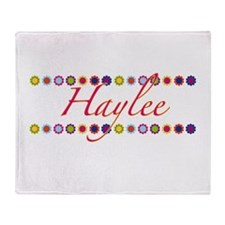 Haylee with Flowers Throw Blanket
