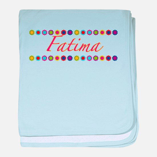 Fatima with Flowers baby blanket