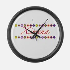Ximena with Flowers Large Wall Clock