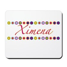 Ximena with Flowers Mousepad