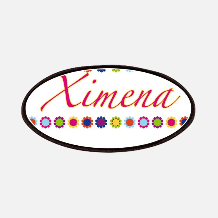 Ximena with Flowers Patches