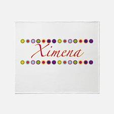 Ximena with Flowers Throw Blanket