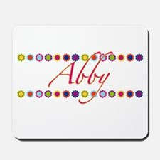 Abby with Flowers Mousepad