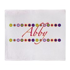 Abby with Flowers Throw Blanket