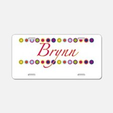 Brynn with Flowers Aluminum License Plate