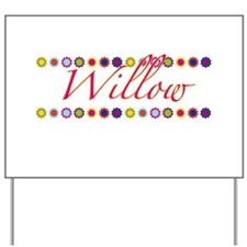 Willow with Flowers Yard Sign