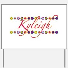 Kyleigh with Flowers Yard Sign