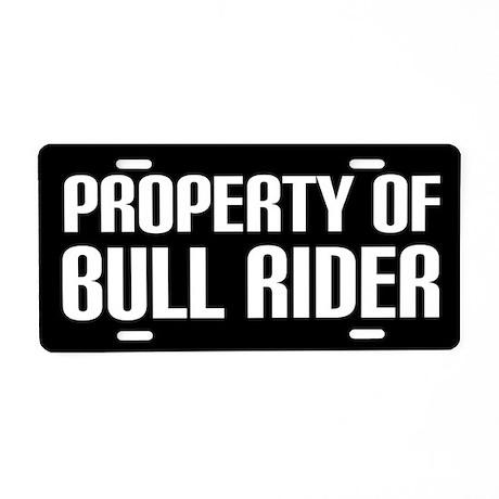 Bull Rider License Plate
