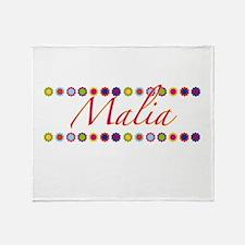 Malia with Flowers Throw Blanket