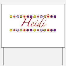 Heidi with Flowers Yard Sign