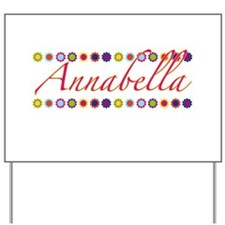 Annabella with Flowers Yard Sign