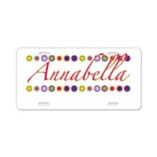 Annabella with Flowers Aluminum License Plate