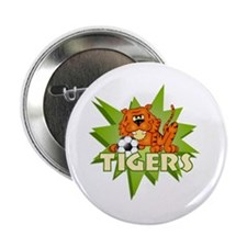 """Tigers Soccer 2.25"""" Button"""