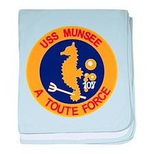 Funny Uss portland baby blanket