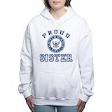 Proud navy sister Hooded Sweatshirt