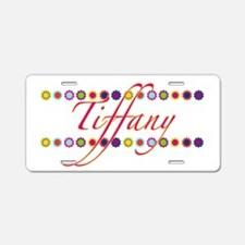 Tiffany with Flowers Aluminum License Plate