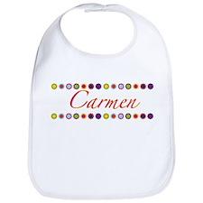 Carmen with Flowers Bib