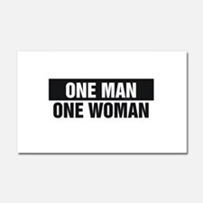 One Man One Woman Car Magnet 20 x 12