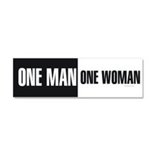 One Man One Woman Car Magnet 10 x 3