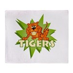 Tigers Team Throw Blanket