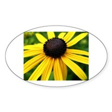Yellow Flower965 Oval Decal