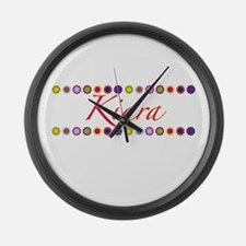 Kiara with Flowers Large Wall Clock
