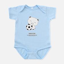 soccer bootan Infant Bodysuit