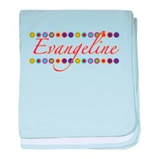 Evangeline with Flowers baby blanket