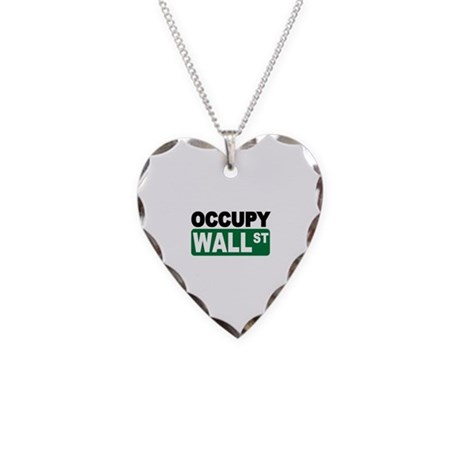 Occupy Wall St. Necklace Heart Charm