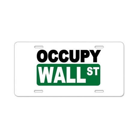 Occupy Wall St. Aluminum License Plate