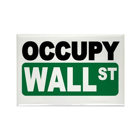 Occupy Wall St. Rectangle Magnet (100 pack)