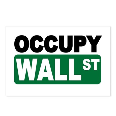 Occupy Wall St. Postcards (Package of 8)