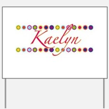 Kaelyn with Flowers Yard Sign