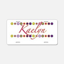 Kaelyn with Flowers Aluminum License Plate