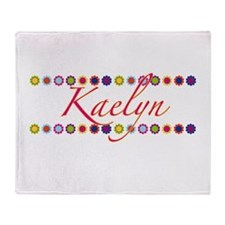 Kaelyn with Flowers Throw Blanket