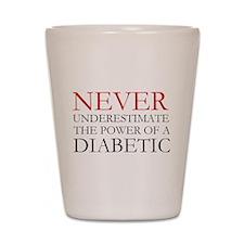 Never Underestimate... Diabetic Shot Glass