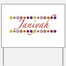 Janiyah with Flowers Yard Sign