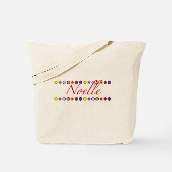 Noelle with Flowers Tote Bag