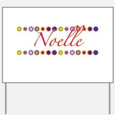Noelle with Flowers Yard Sign