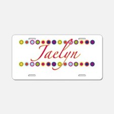 Jaelyn with Flowers Aluminum License Plate