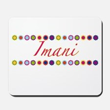 Imani with Flowers Mousepad