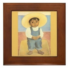 Diego Rivera Nino Ignacio Art Tile Framed Tile