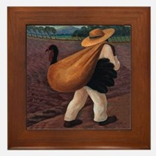 Diego Rivera Farmer Art Tile Framed Tile
