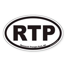 Research Triangle Park RTP Euro Oval Decal