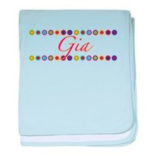 Gia with Flowers baby blanket