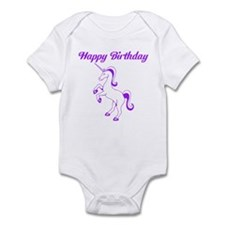 Birthday Unicorn. Purple. Infant Bodysuit