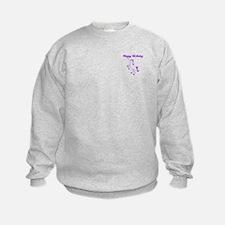 Birthday Unicorn. Purple. Sweatshirt