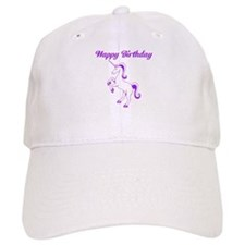 Birthday Unicorn. Purple. Baseball Cap
