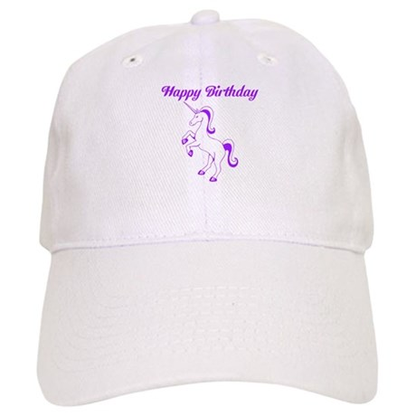 Birthday Unicorn. Purple. Cap
