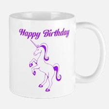 Birthday Unicorn. Purple. Mug